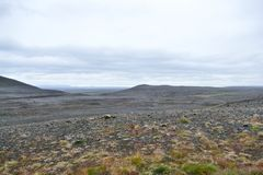 Grim and harsh landscape in the northeastern highland area of Iceland. Grim and harsh landscape in northeastern highland area of Iceland royalty free stock photo