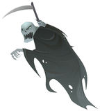 Grim reaper. Death scary Halloween character with scythe Royalty Free Stock Photos