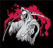 Grim Reaper. Death Grim Reaper Pointing and holding a scythe stock illustration