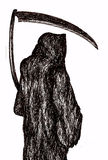 Grim Reaper. Pen drawing of the grim reaper royalty free illustration