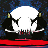 Grim reaper card Royalty Free Stock Images
