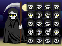 Grim Reaper Cartoon Emotion faces Vector Illustration Royalty Free Stock Photo