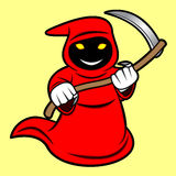 Grim Reaper. A cartoon illustration of a grim reaper Stock Photo