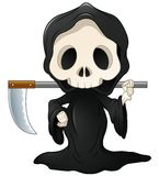 Grim reaper cartoon. Illustration of Grim reaper cartoon Royalty Free Stock Images