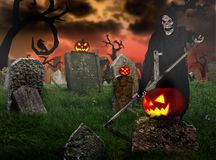 Grim reaper on a dark background Royalty Free Stock Images