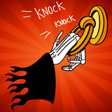 Grim Reaper Door Knocker Royalty Free Stock Image