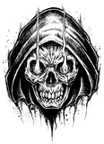 Grim Reaper drawing line work. Grim Reaper drawing line work vector for use Royalty Free Stock Image