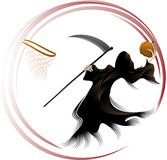 Grim Reaper Dunking a Pumpkin Stock Photos