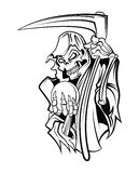 Grim Reaper. Eps 10 illustration Design royalty free illustration
