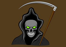 Grim reaper. With green eyes Stock Images