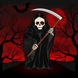 Grim Reaper for Halloween. Grim Reaper on a dark background for Halloween Stock Photography
