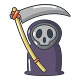 Grim reaper icon, cartoon style. Grim reaper icon. Cartoon illustration of grim reaper vector icon for web Royalty Free Stock Image