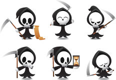 Grim Reaper icons Halloween. Illustrations Royalty Free Stock Photo