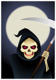 Grim reaper illustration. Grim reaper, the angel of abyss and death illustration Stock Images