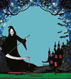 Grim reaper illustration card. Grim reaper  illustration card Royalty Free Stock Photos
