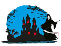Grim reaper illustration card Royalty Free Stock Images
