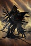 Grim Reaper Illustration. Illustration of a Grim Reaper or fantasy evil spirit. Digital painting stock illustration