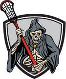 Grim Reaper Lacrosse Player Crosse Stick Retro Royalty Free Stock Photography