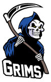 Grim reaper mascot. Suitable as a mascot for sport team, club, community etc royalty free illustration