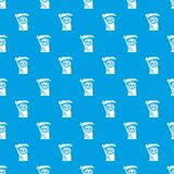 Grim reaper pattern vector seamless blue. Repeat for any use Royalty Free Stock Photo