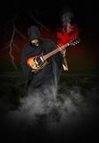 Grim Reaper Play Electric Guitar Royalty Free Stock Image