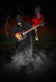 Grim Reaper Play Electric Guitar Royalty Free Stock Image