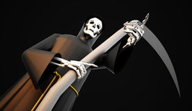 Grim Reaper rendered Stock Image