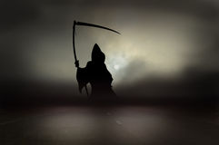 Grim reaper on road Stock Photography