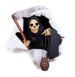 Grim reaper with scythe Royalty Free Stock Photo