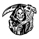 Grim reaper sign.grim reaper tattoo. Stock Photography
