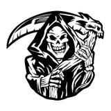 Grim reaper sign.grim reaper tattoo. Stock Photography