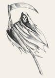 Grim Reaper. Sketch illustration of grim reaper vector illustration