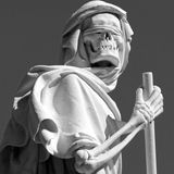 Grim reaper statue Royalty Free Stock Image