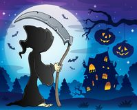 Grim reaper theme image 9. Eps10 vector illustration Stock Images
