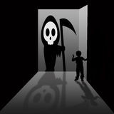 Grim reaper. An unexpected and unpleasant visit from the grim reaper Stock Image