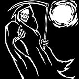 The Grim Reaper. Vector Illustration Stock Image