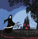 Grim reaper illustration card. Grim reaper , Vector Illustration card Stock Photo