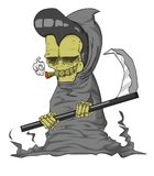 Grim reaper vector and illustration. Monster in Halloween night Stock Images