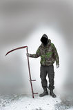 Grim reaper of war and terrorism Royalty Free Stock Image