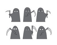 Grim reapers set Royalty Free Stock Photography