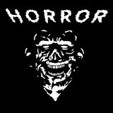 Grim zombie in black and white colors. Vector illustration. royalty free illustration