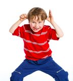 Grimace boy Stock Photography