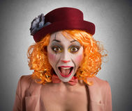 Grimace clown Stock Image