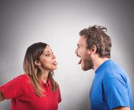 Grimace couple Stock Photography