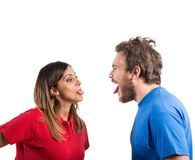 Grimace couple Stock Photos