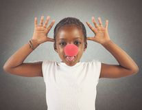 Grimace little girl Royalty Free Stock Images