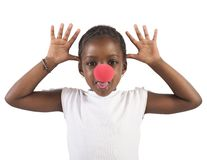 Grimace little girl Stock Photo