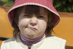 Grimace of missy. By aversion - portrait Royalty Free Stock Photos