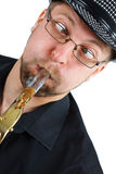 Grimace with saxophone Royalty Free Stock Photo