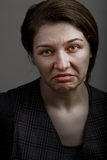 Grimace of unhappy sad disappointed woman Royalty Free Stock Photo
